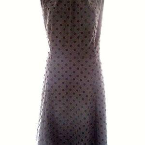 Elle XXL Dress Polkadot Pleated Black Fit Flare Sl